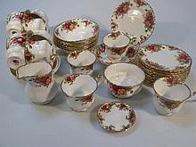 A Royal Albert Old Country Roses part tea service