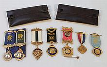 Various Masonic medals, to include silver gilt Ro