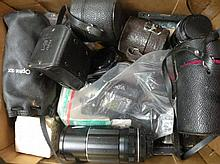 Various cameras and accessories, to include Penta
