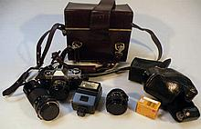 Various cameras and accessories, to include Canon