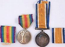 A WWI Campaign and Victory medal, awarded to J.60