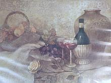 After Albena (20thC). Still life print, 59cm x 91