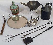 Various silver plate and metalware, to include fl