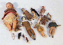 Various Victorian and later dolls, to include a s