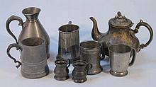 Various Victorian and later pewter, to include a
