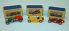 Various Matchbox die-cast models of yesteryear ve