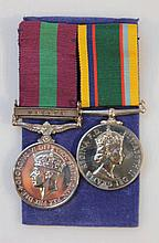 Medals, comprising a Elizabeth II cadet forces me