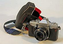 A Praktica NTL 3 camera, with Zeiss Jena DDR lens