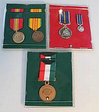 Various medals, to include National Service medal