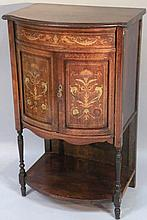A rosewood boxwood and bone inlaid side cabinet,