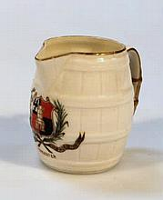 A Royal Worcester Worcester crest jug, the textur