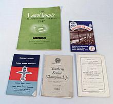 Sporting ephemera and programmes, to include Wimb
