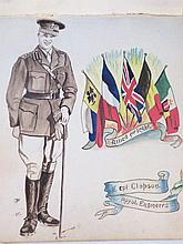 A WWI hospital autograph book, by M E Hards, Dove