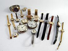 Gents and ladies wristwatches, and pocket watches, including Nivada, Ingersol, Spezial Watches, Seko