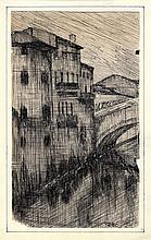 Ubaldo Oppi (1889 - 1942), Case sul fiume.