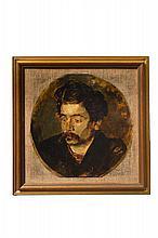 Antonio Mancini (1852 - 1930)[attribuito a], Ritratto di D'Orsi. 1895