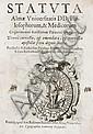 Statuta almae Vniuersitatis DD. Philosophorum, & Medicorum cognomento Aristatum Patauini Gymnasij. Denuò corretta e emendata... Patauij: ex typographia Laurentij Pasquati, 1607.