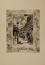 Félix Buhot, La fête nationaledu 30 Juin, boulevard de Clichy. 1878