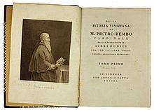 Bembo Pietro, Della istoria viniziana [...] libri dodici. Tomo primo (-secondo). In Vinegia: per Antonio Zatta, 1790.