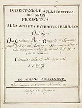 Bruni Girolamo [da], Dissertazione sulla potatura de' gelsi presentata alla Società Patriotica di Milano [...] coronata dalla Società stessa nel 1783. In Milano: Nella Stamperia di Giuseppe Marelli, 1784.