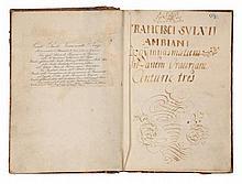 Sylvius Franciscus (Ambianus) , Progymnasmatum in artem oratoriam centurie tres. XVIII secolo.