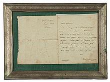 Mazzini Giuseppe, Lettera autografa firmata inviata ad Antonio Mordini. [Londra, luglio 1851].