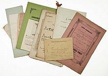 Splendida raccolta di circa 40 tra patenti e attestati concesse da Casa Savoia alle famiglie Ripa di Meana e Rostagno, con firme autografe di Vittorio Amedeo, Carlo Alberto, Carlo Emanuele. XVIII secolo.