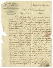 Ricordi Giovanni, Lettera con firma autografa. Datata 13 luglio 1836.