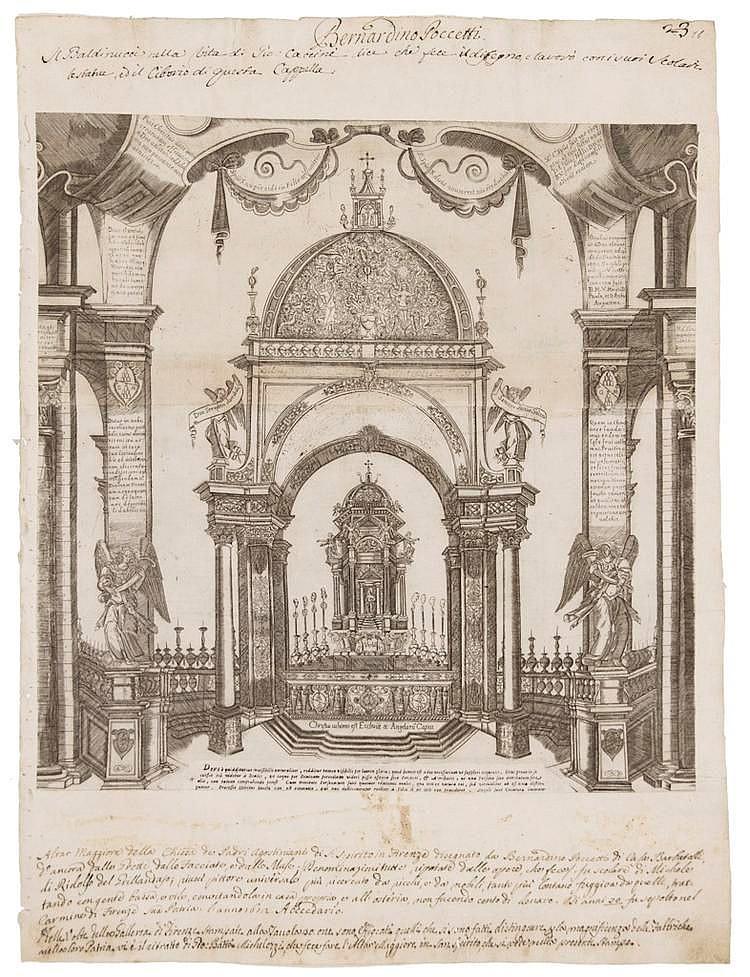 Anonimo toscano fine XVI-inizio XVII secolo - Altare Maggiore della Chiesa di S Spirito a Firenze