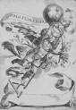 Alberti Cherubino - Genio alato che regge una palla con tre gigli araldici