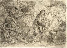 Giovanni Benedetto Castiglione (detto il Grechetto), L'angelo sveglia San Giuseppe. 1645-49 ca.