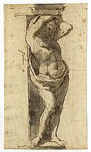 Sebastiano Ricci [cerchia di], Studio di telamone. 1720 ca.