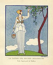 George Barbier, 2 tavole dalla 'Gazette du Bon Ton': La saison des prunes mirabelles (pl. 46, mai 1914), Rugby (pl. 39, avril 1914).