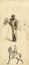 Giovanni Bartolena, Studi di butteri maremmani.