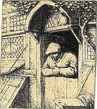 Adriaen (van) Ostade, Contadino che si sporge dalla porta di casa. 1672 ca.