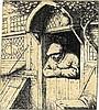 Adriaen (van) Ostade, Contadino che si sporge dalla porta di casa. 1672 ca., Adriaen Jansz. Van Ostade, €750