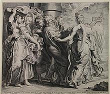 Lucas Vorsterman, Lot fugge da Sodoma con le figlie. 1620