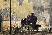 Frank William Brangwyn, Steam train.