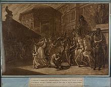 Luigi Ademollo, La moglie di Asdrubale rimproverato il marito che vede ai piedi di Scipione uccide i propri figli e con essi si getta nelle fiamme.