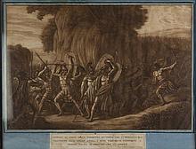 Luigi Ademollo, Leonida al passo delle Termopili avvisato che i persiani lo prendono alle spalle anima i suoi trecento compagni a morire prima d'abbandonare il posto.