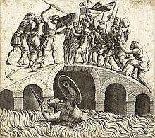 Diana Scultori, Orazio Coclite sul ponte Sublicio. Da Giulio Romano.