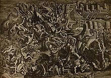 Giovan Battista Scultori, Battaglia navale tra Greci e Troiani. 1538