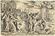 Enea Vico, Virgilium eludens meritas dat foemina penas (La vendetta di Virgilio). Romae, 1542.