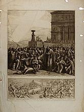 Luigi Ademollo, Croce splendente apparsa a Gerusalemme il giorno della Pentecoste al tempo di S. Cirillo / Fuochi e terremoti distruggono l'attentato di Giuliano Apostata, e dei Giudei di riedificare il tempio.
