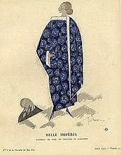 Georges Lepape, 3 tavole dalla 'Gazette du Bon Ton': Pour les beaux jours (pl. 34, avril 1914), Belle Impèria (pl. 59, 1921), Le jouet favori (pl. 52, 1924).