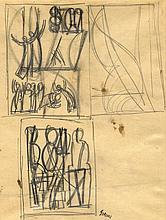 Mario Sironi, Studi di figure.