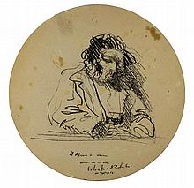 Silvestro Pistolesi, Figura maschile a un tavolo. 1975