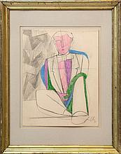 Sandro Chia , Uomo seduto. 1991
