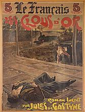 Manifesto 'Les Clous d'or' (pubblicità editoriale di un romanzo di Jules de Gastyne).