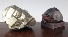 Iron pyrites and haematite specimens, pyrite 8in.